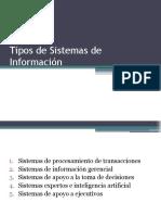 Clase Lunes 21 febrero 2011 - Tipos de Sistemas de Información