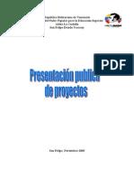 presentacion publica de proyectos