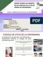 Codigo de Etica de Enfermeria 180516035129