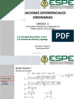 1.7 Integración de EDO de 1er orden no normalparte2LagrangeRiccati