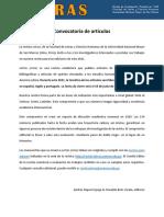 Convocatoria de artículos - Revista Letras (Lima)
