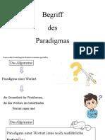 Begriff des Paradigmas