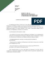 Decret 2004-84 Organisation-ministere Urbanisme