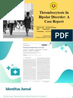 Thrombocytosis In Bipolar Disorder