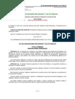 LEY DE ASOCIACIONES RELIGIOSAS Y CULTO PUBLICO