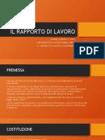1- RAPPORTO DI LAVORO