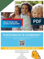 Postkarte Erziehungsberuf