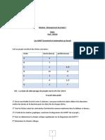 Cas GANTT sur Excel