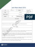 20200427 Cognizant Maze Attack IOC's