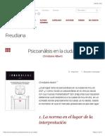 Alberti-Psicoanálisis en La Ciudad – Freudiana