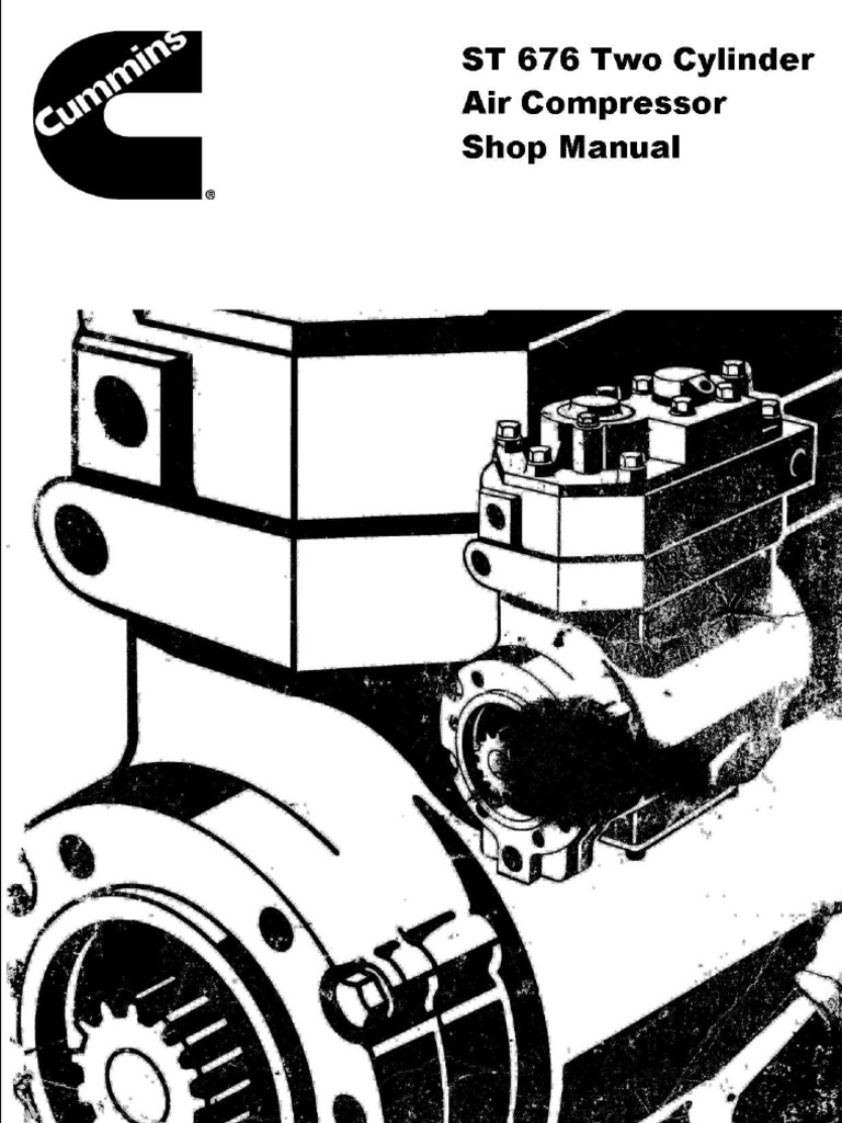st 676 two cylinder air compressor shop manual