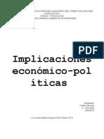 implicaciones económico-políticas