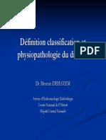 Définition classification et physiopathologie du diabète