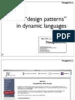 _Design Patterns_ in Dynamic Languages Presentation