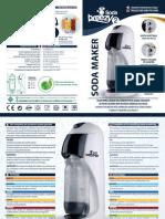 Soda Breezy 2 gasatore acqua kit starter completo - Manuale (ITA/ENG)