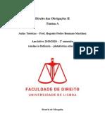 Teóricas Obrigações II - Romano Martinez 19-20