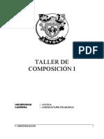 TALLER DE COMPOSICIÓN I