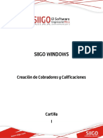 CARTILLA - CREACION DE COBRADORES Y CALIFICACIONES
