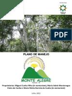 Plano de Manejo RPPN Monte Alegre APA Serra da Aratanha