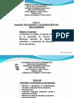Tema 3 Velocidad y Aceleracic3b3n en Mecanismos1