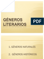 GÉNEROS LITERARIOS--esquema