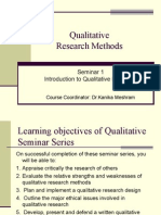 Seminar 3.1 -Qualitative Intro & Skills