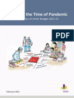 Budget in the Time of Pandemic an Analysis of Union Budget 2021 22