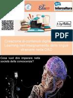 Creazione Di Contenuti Digitali e Service Learning Nell'Insegnamento Delle Lingue Straniera Nella DAD