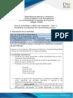 Guia de actividades y Rúbrica de evaluación - Fase 1 - Desarrollar la evaluación de conocimientos previos