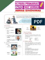 CLASE 1 - 4° 5° RV SINONIMOS