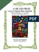 Domingo de Sexagésima. Guía de los fieles para la santa misa cantada. Kyrial Orbis Factor
