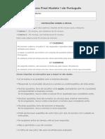 Prova Final de Português - Modelo 1 e 2
