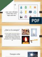 energía y tipos de energía