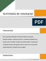 Activitatea de Voluntariat