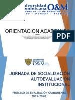 JORNADA DE SOCIALIZACIÓN AUTOEVALUACION QUINQUENAL