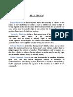 Comparison of Relativism