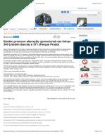 Emdec promove alteração operacional nas linhas