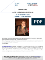 incontro con OKSANA CHELYSHEVA