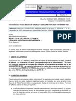 BALISTICA caso Drogas la Troncal revolver y cartuchos IF 030401820080101 Dr. Bernal