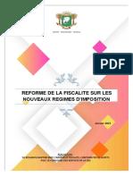 REFORME DE LA FISCALITE SUR LES NOUVEAUX REGIMES D'IMPOSITION -JANVIER 2021