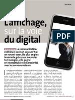 L'affichage sur la voie du Digital
