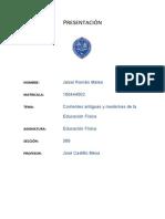 Corrientes Antiguas y Modernas de La Educación Física