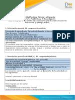 Guía para el desarrollo del componente práctico Tarea 3-La acción psicosocial en el trabajo