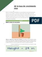 Cómo medir la tasa de crecimiento de las plantas