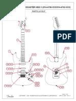 Fender Standard Stratocaster HSS 014470XXXX Service Manual REV A 4-27-16