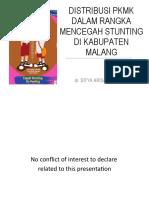 DISTRIBUSI PKMK DALAM RANGKA MENCEGAH STUNTING
