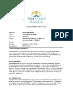 Fort St. John - Operating Budget 2021-2025