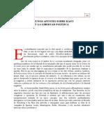 Colomer, José Luis - Algunos Apuntes Sobre Kant y La Libertad Política