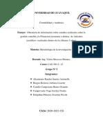 Obtención de información sobre estudios realizados sobre la gestión Financiera