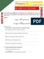 El Predicado y Su Nucleo Para Quinto de Primaria (1)
